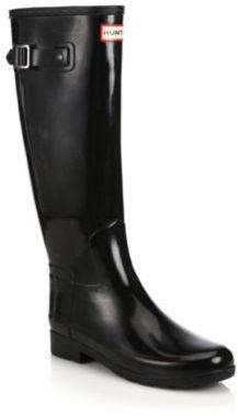 Hunter Refined Tall Gloss Rain Boots $165 thestylecure.com