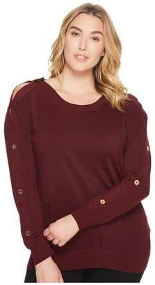 MICHAEL Michael Kors Size Lurex Button Sweater Women's Sweater