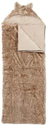Pottery Barn Teen Hooded Baby Leopard Fur Sleeping Bag, Baby Leopard