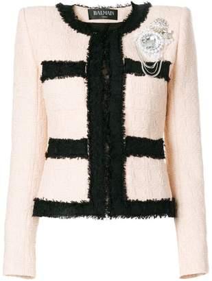 Balmain bouclé embellished jacket