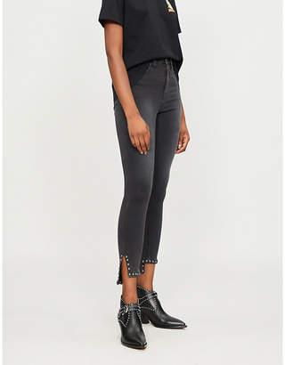 Mo&Co. Stud-embellished slim-fit skinny denim jeans