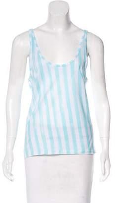 Balmain Sleeveless Striped Top