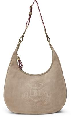 Ralph Lauren Anchor Suede Hobo Bag