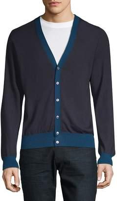Brioni Men's Long-Sleeve Cashmere Cardigan