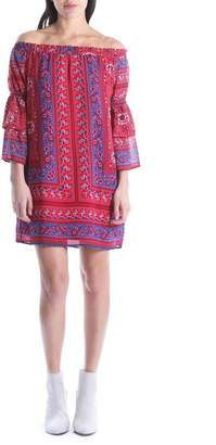KUT from the Kloth Jaida Off the Shoulder Ruffle Sleeve Dress
