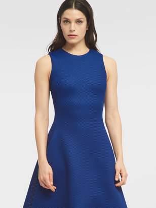 DKNY Sleeveless Hi-Lo Fit & Flare Dress