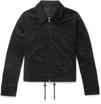 99% Is 99%Is Appliqued Snake-Effect Jacquard Jacket