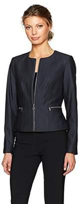 Calvin Klein Women's Denim Zipper Front Jacket