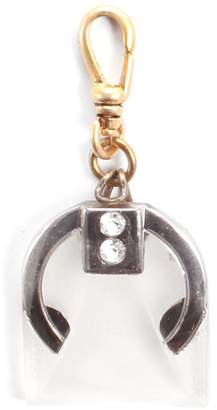 Lulu Frost Vintage Art Deco Frosted Glass Charm