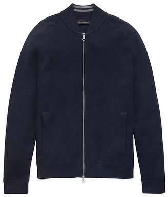 Banana Republic SUPIMA® Cotton Bomber Sweater Jacket