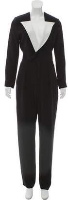 Roland Mouret Silk Long Sleeve Jumpsuit