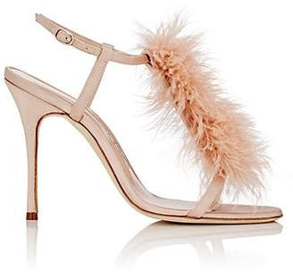 Manolo Blahnik Women's Eila Sandals - Nude Satin