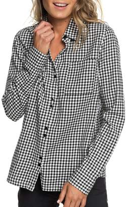 Roxy Concrete Streets Gingham Flannel Shirt
