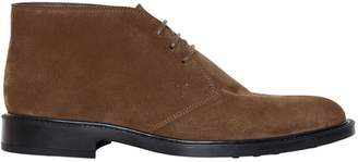 Tod's Suede Leather Lace-Up Shoes