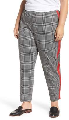BP Glen High Rise Side Stripe Plaid Pants