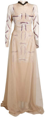 Marios Schwab High Neck Long Dress