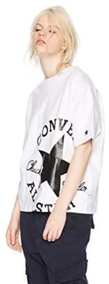 Converse (コンバース) - [コンバース] BIGロゴプリント半袖Tシャツ(8282-8816) レディース OTH-656 ホワイトB 日本 L (日本サイズL相当)