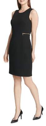 Calvin Klein Zip-Embellished Sheath Dress