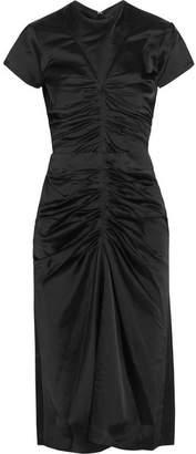 Isabel Marant Else Ruched Satin Midi Dress - Black