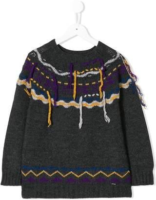 Pinko Kids threaded intarsia sweater