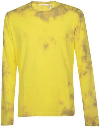 Helmut Lang Tie-dyed Logo Dart T-shirt