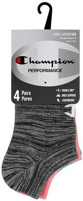 Champion 4 Pair No Show Socks - Womens