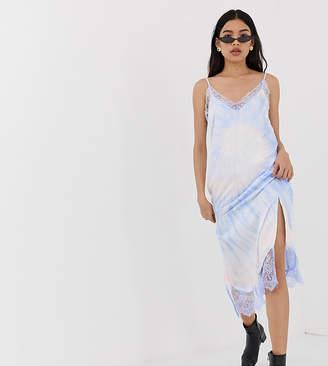 ade83ddcfa Stradivarius tie dye slip cami dress in blue