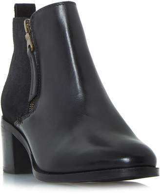 Linea Paxon Stack Heel Block Ankle Boots