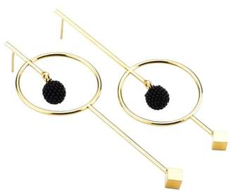 Mishky Circle & Bead Statement Earrings