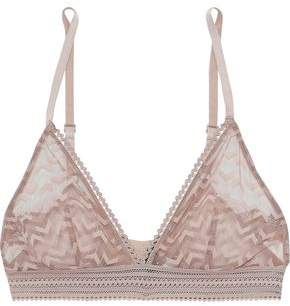 797869ab374a Else Boomerang Lace-trimmed Stretch-mesh Soft-cup Triangle Bra