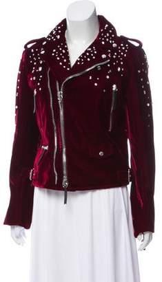 Giuseppe Zanotti Embellished Velvet Jacket w/ Tags