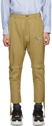 BEIGE Sulvam Wool Bandage Trousers