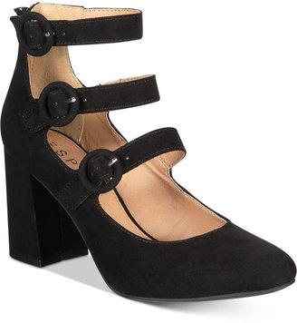 Esprit Lucy Block-Heel Detailed Dress Pumps $59 thestylecure.com
