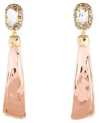 Alexis Bittar Crystal Encrusted Scooped Drop Earrings