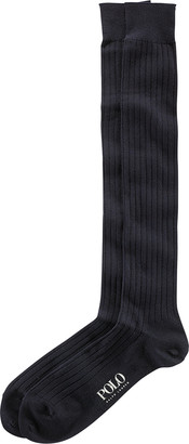 Ralph Lauren Solid Rib Over the Calf Socks