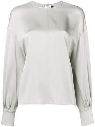 Joseph fitted cuff blouse