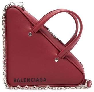 Balenciaga Triangle Duffle S Bag - Womens - Burgundy