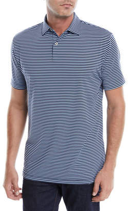 Peter Millar Men's Tour-Fit Joyce Stripe Performance Polo Shirt