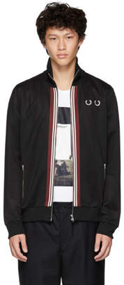 Comme des Garcons Homme Deux Black Fred Perry Edition Front Stripe Track Jacket