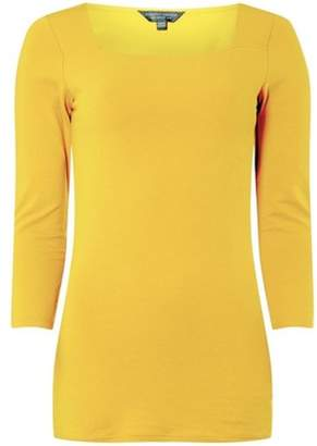 Dorothy Perkins Womens **Tall Mustard Square Neck Top