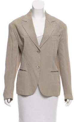 Alaia Embroidered Notch-Lapel Blazer