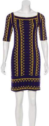 Trina Turk Patterned Knit Dress