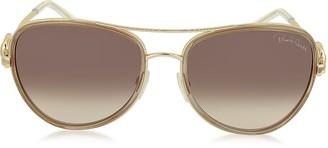Roberto Cavalli WEZEN 1013 Metal Aviator Women's Sunglasses