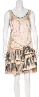 Marc Jacobs Tulle-Accented Silk Dress