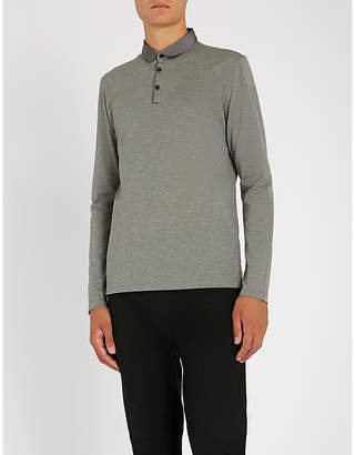 Lanvin Satin-trimmed cotton-piqué polo shirt