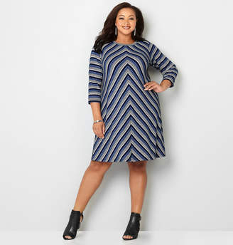Avenue Mitered Stripe Dress