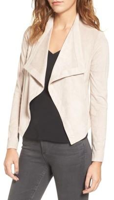 Women's Bb Dakota Nanette Faux Suede Drape Front Jacket $115 thestylecure.com