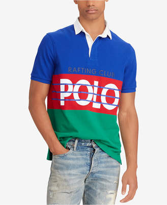 Polo Ralph Lauren Men's Hi Tech Colorblocked Classic Fit Rugby Polo Shirt