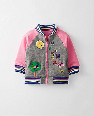 Toddler Supersoft Baseball Jacket In French Terry $60 thestylecure.com