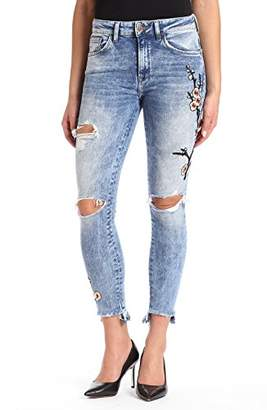 Womens Serenity Twisted Skinny Jeans Mavi YgoaTL3